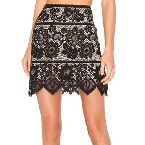 For Love and Lemons Gianna Mini Lace Skirt
